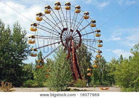 Abandoned amusement park in Pripyat, Chernobyl
