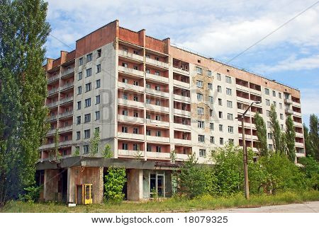 Lost and abandoned city Pripyat Chernobyl region