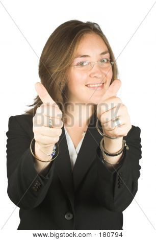 Business Woman - Thumbs Up!