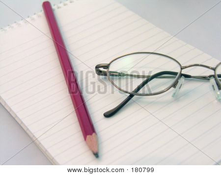 Pencil And Glasses