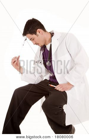 Male Doctor Stressed