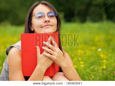 Portrait Of A Young  Female With A Book