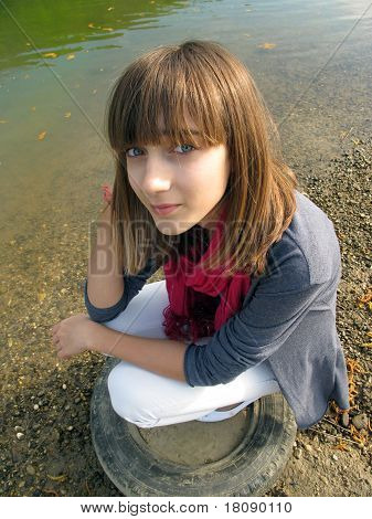 Teenage Girl By The River