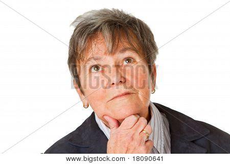 Female Senior Thinking