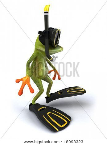 Frog and scuba diving