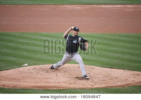 Syracuse Skychiefs' pitcher Yunesky Maya
