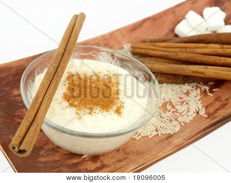 Creamy Rice Pudding With Cinnamon