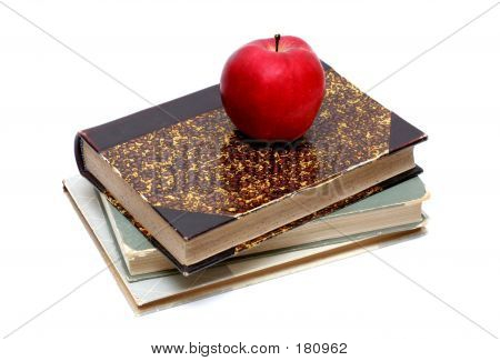 Old Books And Apple