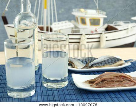 Ouzo And Seafood