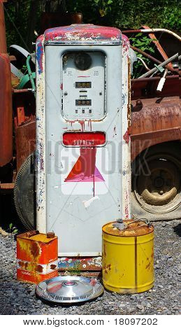 Old Rusty Gas Pump