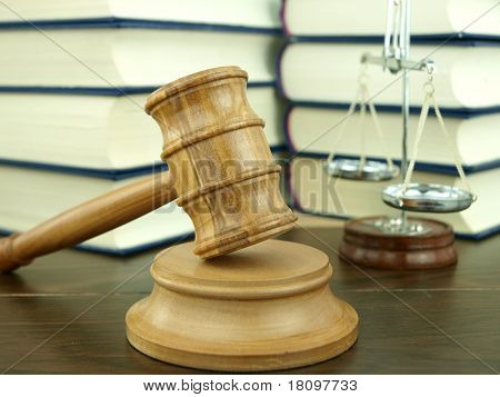 Judge's Gavel And Scale Of Justice