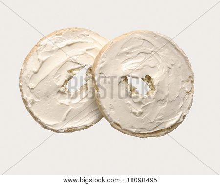 cream cheese on bagels