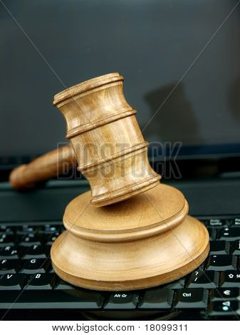 Auction Gavel  And Technology