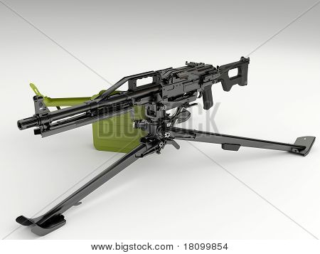 Machine gun Peheneg with a tripod mount