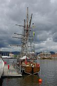 image of yardarm  - A Swedish ship Zebu was originally built in 1938 - JPG