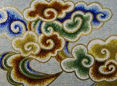 pic of ceramic tile  - a Details of the colorful decorated wall - JPG