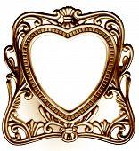 pic of heart shape  - antique heart shaped photo frame  - JPG