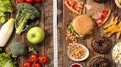 junk food or health food poster