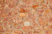 Masonry wall detail of rodeno limestone stone brickwall poster