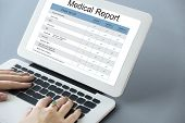 Постер, плакат: Medical Examination Report History History