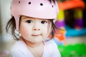 Baby Girl With Orthopedic Helmet