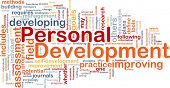 stock photo of self assessment  - Background concept word cloud illustration of personal development - JPG
