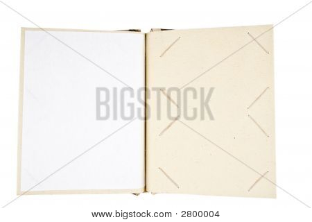 Open Photo Album Isolated On White