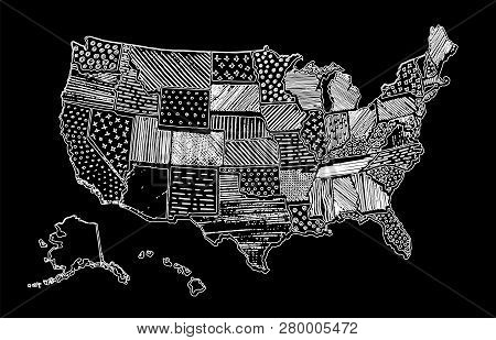 United States Of America Drawing