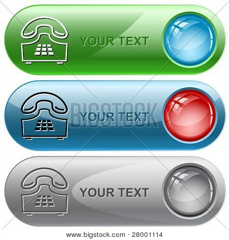 Push-button telephone. Vector internet buttons.