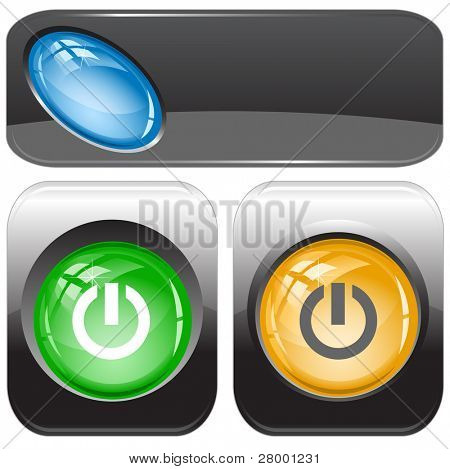 Switch element. Internet buttons. Raster illustration. Vector version is in my portfolio.