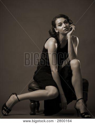 Gelangweilte Frau