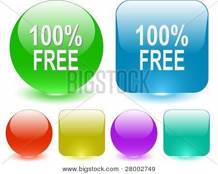 100% free. Interface element. Raster illustration.