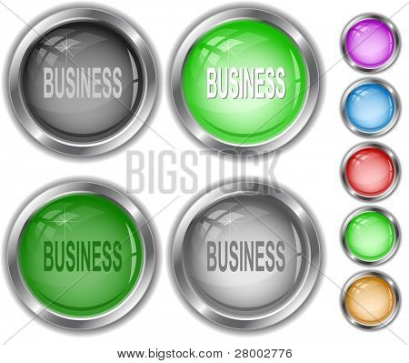 Business. Raster internet buttons. Vector version is in portfolio.