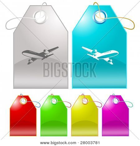 Airliner. Raster tags. Vector version is in my portfolio.