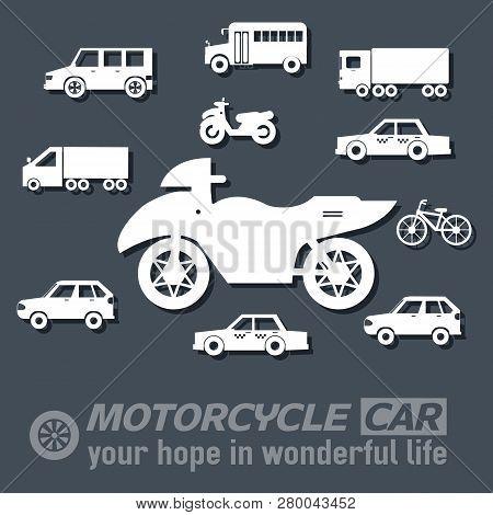 Flat Motorcycle Background Illustration Concept