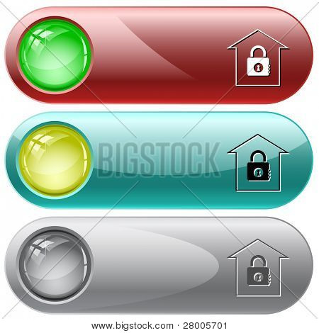 Bank. Internet buttons. Raster illustration. Vector version is in my portfolio.