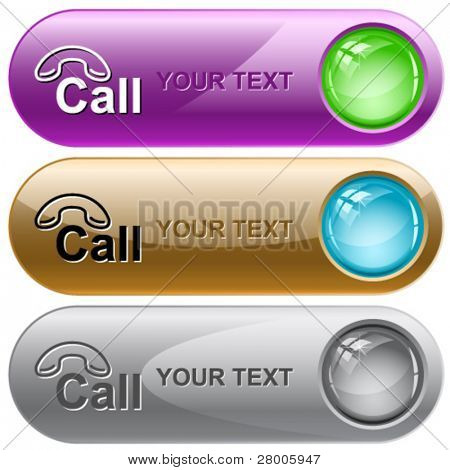 Hotline. Vector internet buttons.