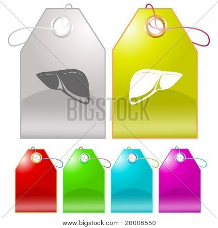 Liver. Raster tags. Vector version is in my portfolio.