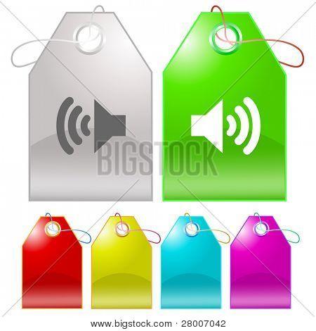 Speaker. Raster tags. Vector version is in my portfolio.