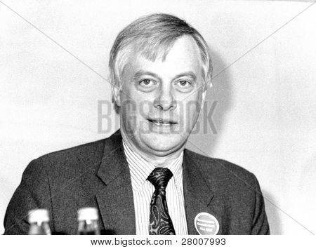 LONDON-APRIL 4: Christopher Patten, Secretary of State for the Environment and Conservative party M.P. for Bath, speaks at a press conference on April 4, 1990 in London.