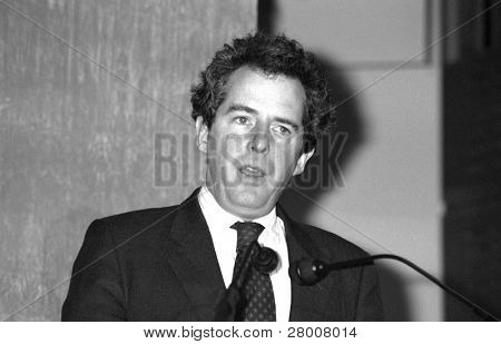 LONDON-FEBRUARY 19: William Waldegrave, Secretary of State for Health and Conservative party M.P. for Bristol West, speaks at a press conference on February 19, 1992 in London.