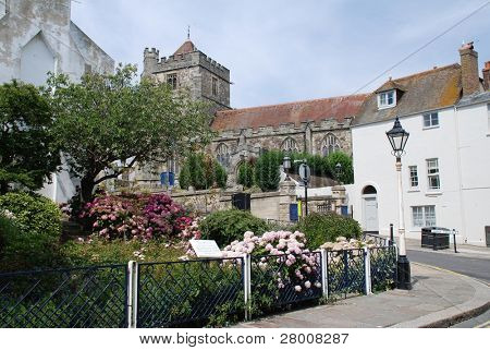 St. Mildred's church off the High Street in Hastings, East Sussex, England.