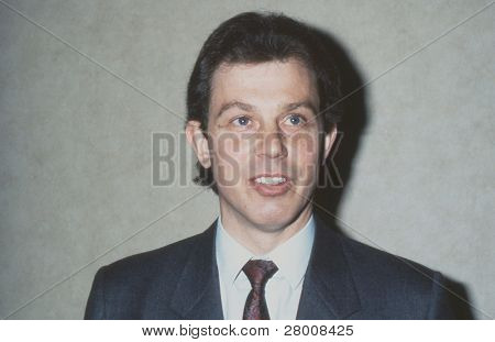 LONDON - MAY 24: Tony Blair, former British Prime Minister and Labour Party Leader, attends a press conference on May 24, 1989 in London.