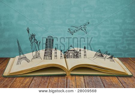 Book of travel (Australia,France,Italy,New York,India,)