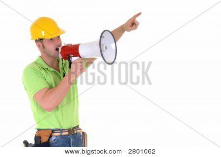 Supervisor With Megaphone