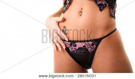 beauty underwear and pierced belly
