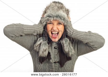 Crazy Winter Woman