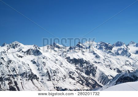 Snow Covered Mountains With Mount
