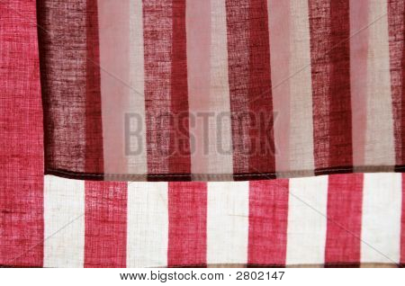 Red And White Stripes Of American Flags