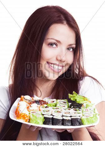 Woman With Sushi
